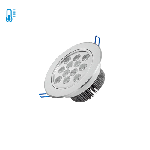 Embutido Aluminio Dirigible 12W Frío